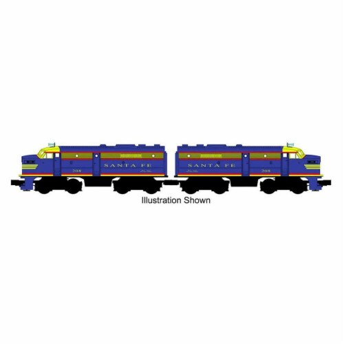 Bachmann BAC20093 Santa Fe No.208 O-27 ALCO FA-2 Powdered A & Dummy Locomotive Model Train Se Perspective: front