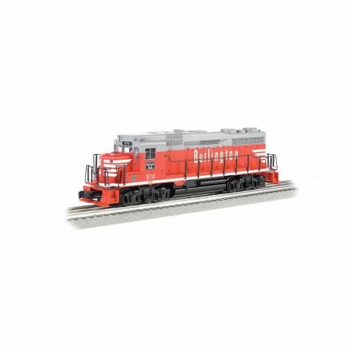 Bachmann BAC22905 Burlington No.974 GP30 Model Train with Dynamic Brake Perspective: front