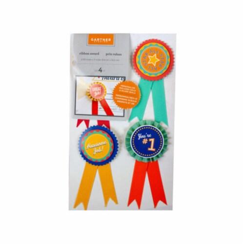 Kole Imports AF676-48 Ribbon Awards Set - 4 Count - Case of 48 Perspective: front