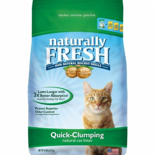 Eco-Shell, Purr & Simple ES21001 6 lbs Naturally Fresh Quick Clumping Cat Litter Perspective: front