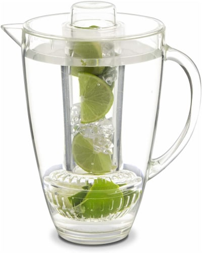 Eternal Kitchen Ideas Fruit Infusion Flavor Pitcher,  94 oz Clear Perspective: front