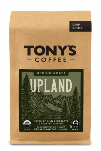 Tony's Coffee Backcountry Blend Medium Roast Coffee Perspective: front