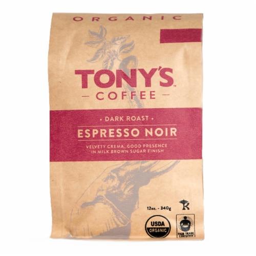 Tony's Coffee Organic Espresso Noir Dark Roast Coffee Perspective: front