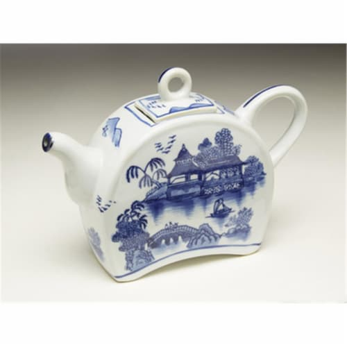 AA Importing 59785 Blue & White Teapot Perspective: front