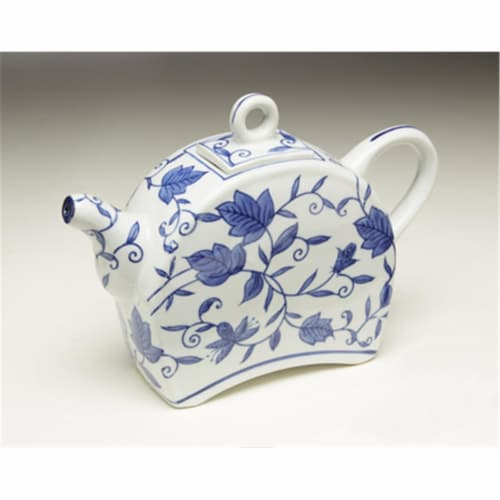 AA Importing 59786 Blue & White Teapot Perspective: front