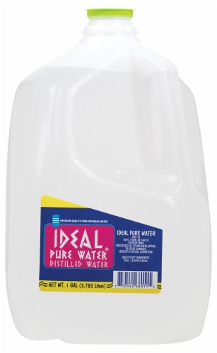 Ideal Pure Water Distilled Water Perspective: front