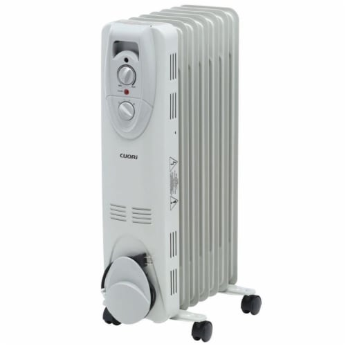 Midea International 239533 Pelonis White Radiator Heater Perspective: front