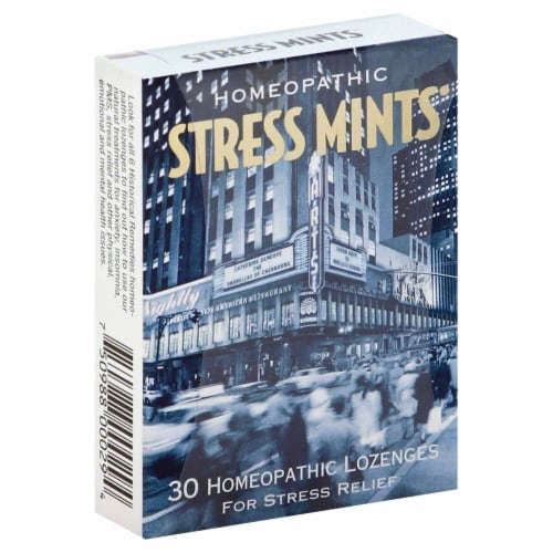 Historical Remedies Stress Mints Lozenges Perspective: front