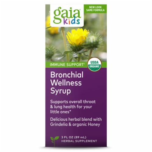 Gaia Herbs Organic Bronchial Wellness for Kids Perspective: front