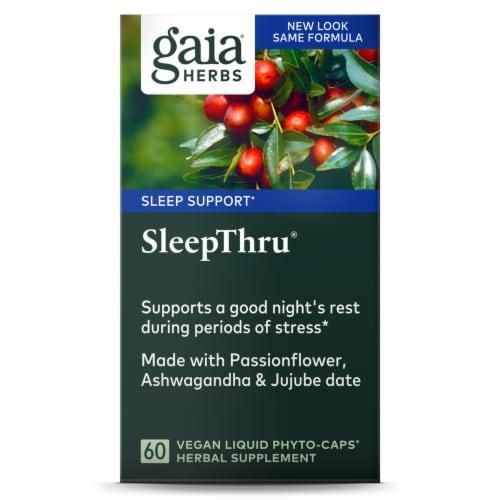 Gaia Herbs SleepThru Liquid Phyto-Caps Perspective: front