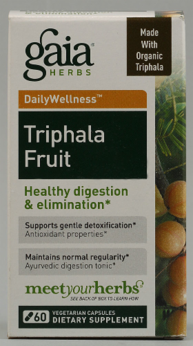 Gaia Herbs Triphala Fruit Dietary Supplement Perspective: front