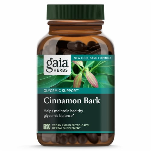 Gaia Herbs Single Herbs Cinnamon Bark Perspective: front