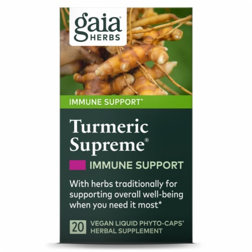 Gaia Herbs Tumeric Supreme Imunne A.S.A.P. Perspective: front
