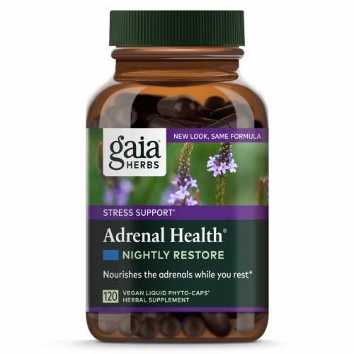 Gaia Herbs Adrenal Health® Nightly Restore Perspective: front