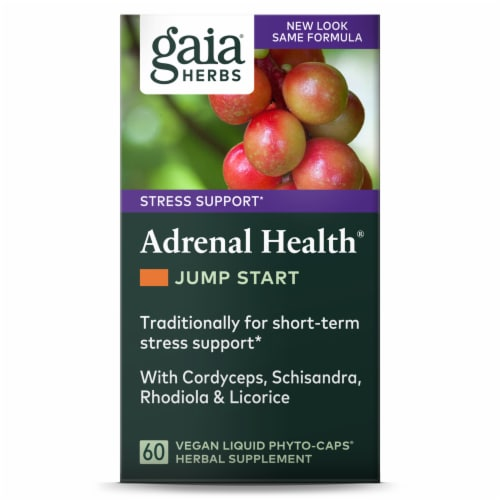 Gaia Herbs Adrenal Health Jump Start Capsules Perspective: front