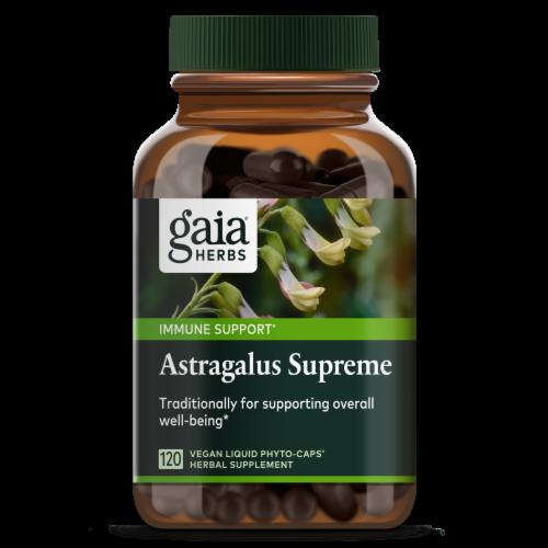 Gaia Herbs Astragalus Supreme Vegan Liquid Capsules Perspective: front