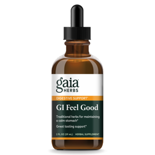 Gaia Herbs GI Feel Good Herbal Supplement Perspective: front