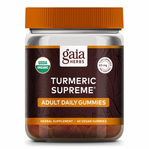 Gaia Herbs Turmeric Supreme Adult Daily Gummies Perspective: front