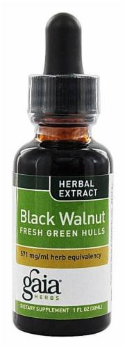 Gaia Herbs Black Walnut Fresh Green Hulls Perspective: front