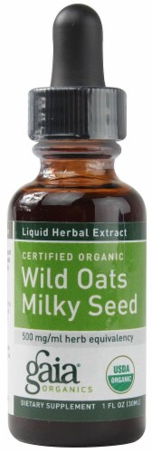 Gaia Herbs Organic Wild Oats Milky Seed Perspective: front