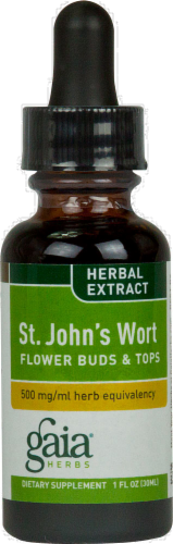 Gaia Herbs St. John's Wort Extract Perspective: front