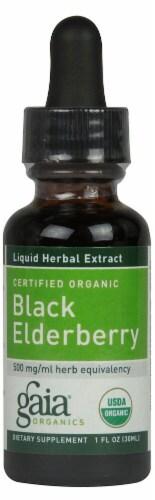 Gaia Herbs Certified Organic Black Elderberry Extract Perspective: front