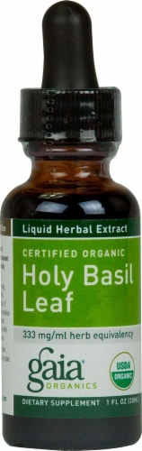 Gaia Herbs  Organic Holy Basil Leaf Perspective: front