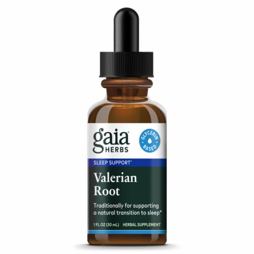 Gaia Herbs  Valerian Root Alcohol Free Perspective: front
