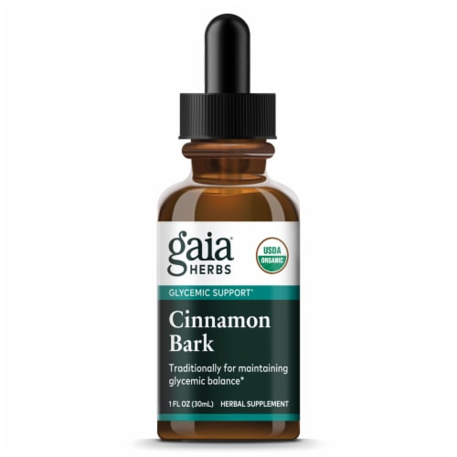 Gaia Herbs  Organic Cinnamon Bark Perspective: front