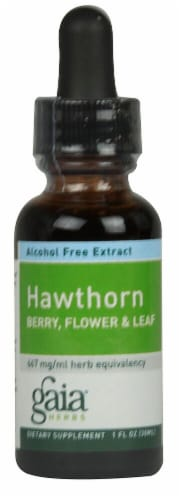 Gaia Herbs  Hawthorn Berry Flower and Leaf Perspective: front