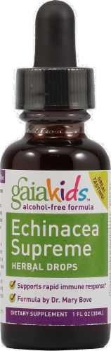 Gaia Kids Echinacea Supreme Herbal Drops Perspective: front