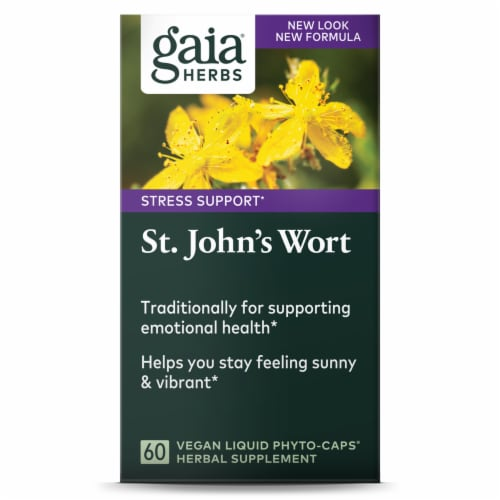 Gaia Herbs  St John's Wort Perspective: front