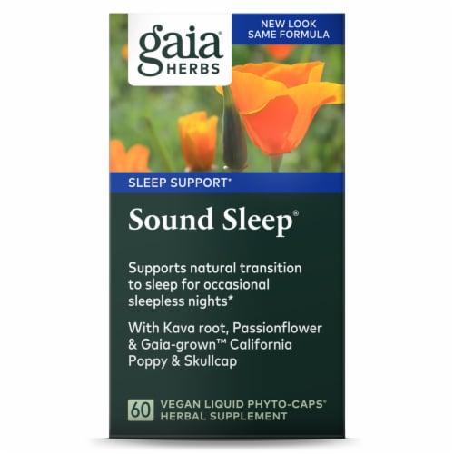 Gaia Herbs RapidRelief Sound Sleep Dietary Supplement Perspective: front