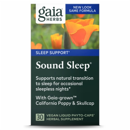Gaia Herbs Sound Sleep Dietary Supplement Liquid Phyto-Caps Perspective: front