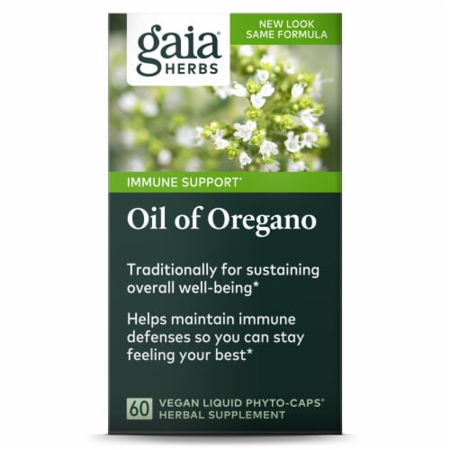 Gaia Herbs Oil of Oregano Liquid Phyto-Caps Perspective: front