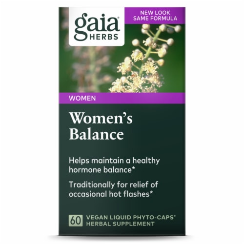 Gaia Herbs SystemSupport Women's Balance Dietary Supplement Perspective: front