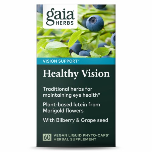 Gaia Herbs Vision Enhancement Perspective: front
