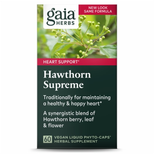 Gaia Herbs  SystemSupport™ Hawthorn Supreme Perspective: front