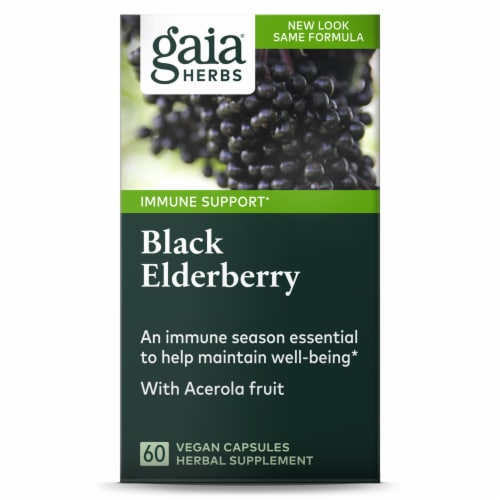 Gaia Herbs  Black Elderberry Perspective: front