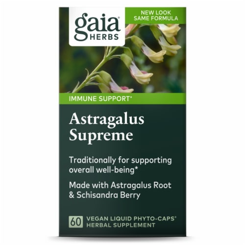 Gaia Herbs Daily Wellness Astragalus Supreme Dietary Supplement Perspective: front
