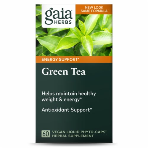 Gaia Herbs Green Tea Dietary Supplement Perspective: front