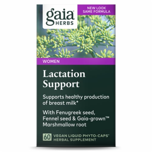 Gaia Herbs Lacatation Support Liquid Phyto-Caps Perspective: front