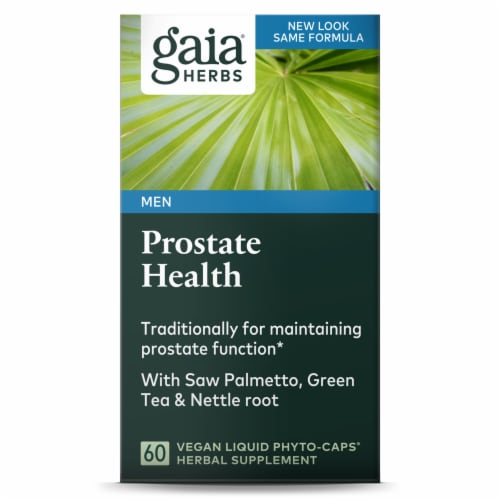 Gaia Herbs Prostate Health Supplement Perspective: front
