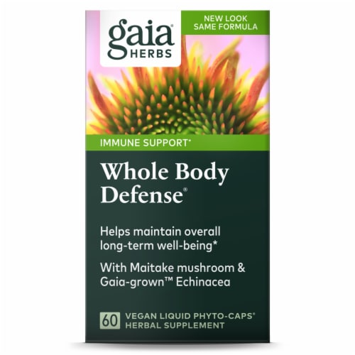 Gaia Herbs  Whole Body Defense Caps Perspective: front