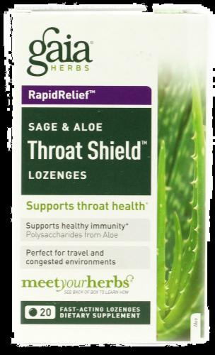 Gaia Sage & Aloe Throat Lozenges Perspective: front