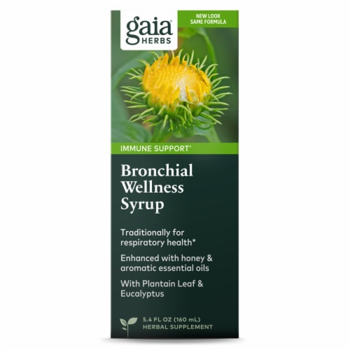 Gaia Herbs Bronchial Wellness Syrup Perspective: front