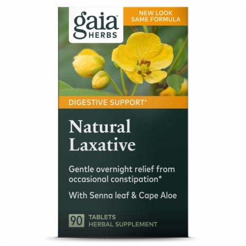 Gaia Herbs Rapid Relief Natural Laxative Perspective: front