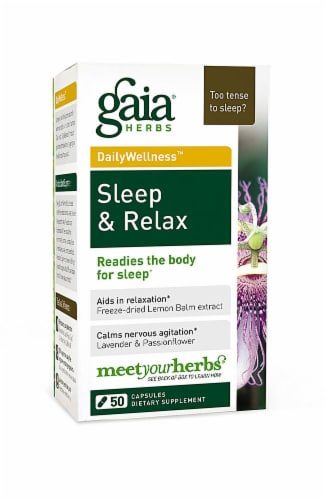 Gaia Herbs  DailyWellness™ Sleep and Relax Perspective: front