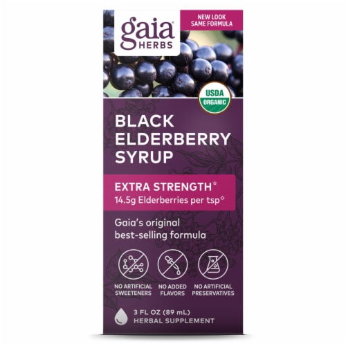 Gaia Herbs Black Elderberry Syrup Perspective: front
