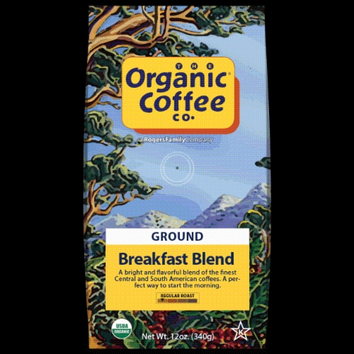 The Organic Coffee Co. Breakfast Blend Ground Coffee Perspective: front